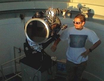 Alejandro Sánchez de Miguel a l'Observatori UCM