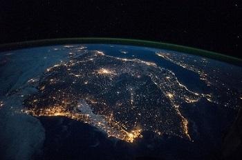 Imatge de la Península de nit captada per astronautes de l'Estació Espacial Europea / NASA/ESA