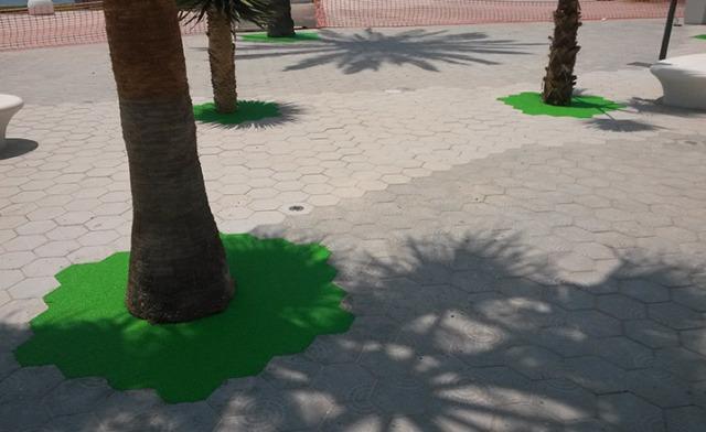 alcorque pavimento drenante in-situ